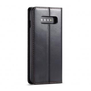Schutzhülle Handy Tasche für Samsung Galaxy S10 Business Fächer Wallet Schwarz - Vorschau 5