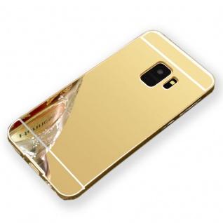 Mirror Alu Bumper 2teilig Gold für Samsung Galaxy S9 Plus G965F Tasche Hülle Neu