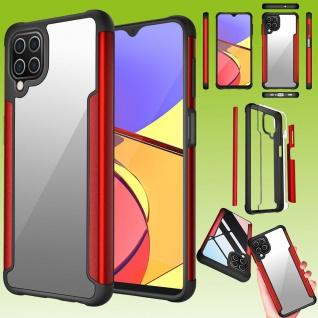 Für Samsung Galaxy A12 Hybrid Iron Man Rot Handy Tasche Etuis Hülle