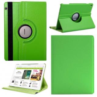Für Huawei MediaPad M5 Lite 10.1 Tablet 360 Grad Tasche Hülle Cover Etuis Grün