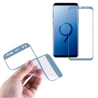 Hybrid TPU gebogene Panzerfolie Folie Blau Schutz für Samsung Galaxy S9 G960F