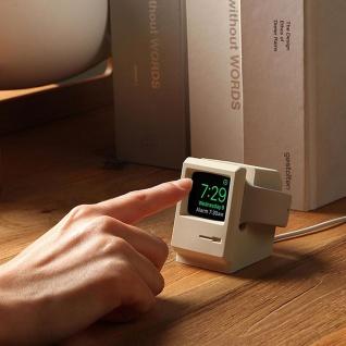 Ständer für Apple Watch Halter Station Retro Style Silikon Halterung Dekoration Grau - Vorschau 5