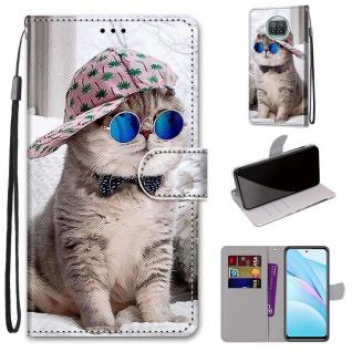 Für Xiaomi Mi 10T Lite Kunstleder Handy Tasche Book Motiv 1 Hülle Case Etuis Neu