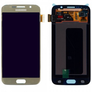 Display LCD Komplettset Touchscreen Gold für Samsung Galaxy S6 G920 G920F Ersatz