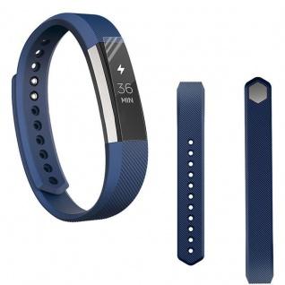 Für Fitbit Alta HR Kunststoff / Silikon Armband Männer / Größe L Dunkelblau Uhr