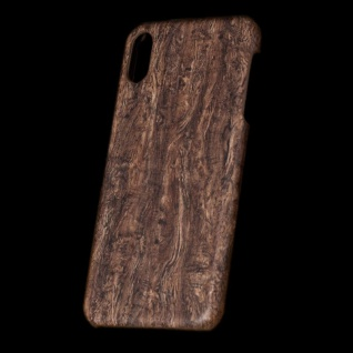 Für Apple iPhone XS MAX 6.5 Zoll Holz Wald Muster 1 Tasche Hülle Hard Cover Neu