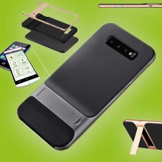 Für Samsung Galaxy S10e G970F Standing Tasche Outdoor Etuis Grau + H9 Glas Hülle