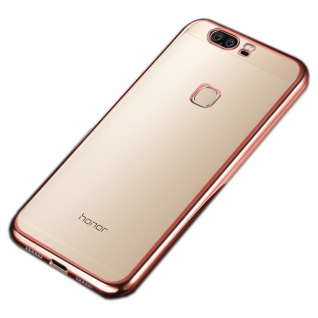 Premium TPU Schutzhülle Pink für Huawei Honor 8 Tasche Backcover Silikon Case