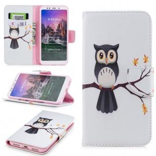 Für Huawei P20 Lite Kunstleder Tasche Book Motiv 35 Schutz Hülle Case Cover Etui