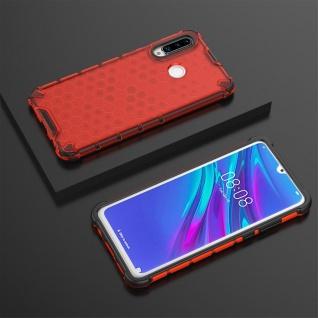 Für Huawei P30 Lite + 2020 New Edition Schock Silikon TPU Rot Tasche Hülle Etuis