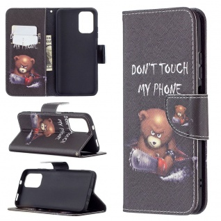 Für Xiaomi Redmi Note 10 4G / 10s Kunst-Leder Handy Tasche Motiv 1 Hülle Etuis