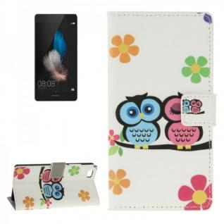 Schutzhülle Muster 45 für Huawei Ascend P8 Lite Bookcover Tasche Hülle Wallet