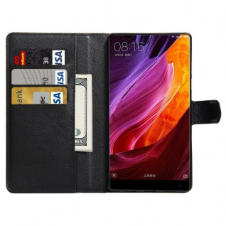 Tasche Wallet Premium Schwarz für Xiaomi Mi MIX Hülle Case Cover Etui Schutz Neu - Vorschau 5