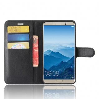 Tasche Wallet Premium Schwarz für Huawei Mate 10 Hülle Case Cover Etui Schutz - Vorschau 5