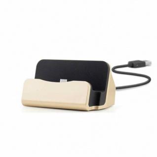 Dockingstation Sync Lade Dock Tischladestation für Micro USB Smartphones Gold