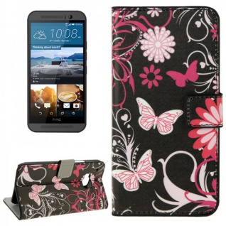 Schutzhülle Muster 4 für HTC One 3 M9 2015 Tasche Cover Case Hülle Etui Schutz - Vorschau 1