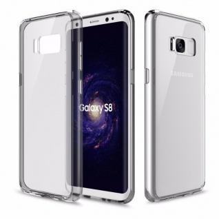 Original ROCK Silikon Case Tasche Transparent / Grau für Samsung Galaxy S8 G950F
