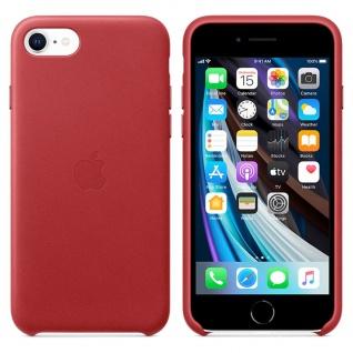 Apple Leather Case für iPhone SE 2020 Rot Tasche Schutz Handy Hülle Case Etui