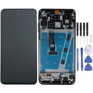 Für Huawei P30 Lite Display Full LCD Touch mit Rahmen Ersatz Reparatur Schwarz