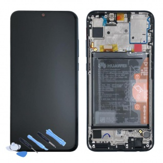 Huawei Display LCD Rahmen für Honor 10 Lite Service 02352GWN Schwarz Batterie