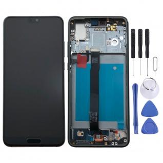 Für Huawei P20 Display Full LCD Touch mit Rahmen Reparatur Blau Ersatzteil Neu