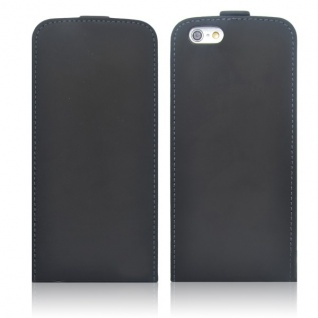 Fliptasche Deluxe Schwarz für Apple iPhone 6 4.7 Tasche Hülle Zubehör Kappe Neu - Vorschau 3