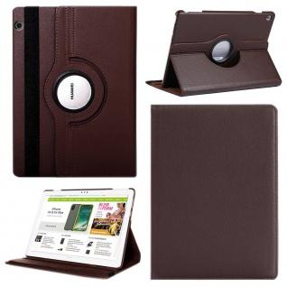 Für Apple iPad 10.2 Zoll 2019 2020 Braun 360 Grad Etui Tablet Tasche Kunst-Leder