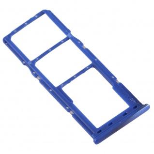 Dual Sim Karten Halter für Samsung Galaxy A70 Blau Card Tray Micro SD Ersatzteil - Vorschau 4
