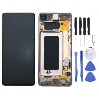 Samsung Display LCD Komplettset GH82-18849J Weiß für Galaxy S10 Plus G975F 6.4