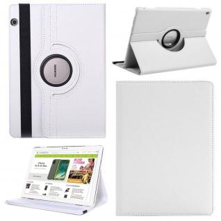 Für Huawei MediaPad M5 Lite 10.1 Tablet 360 Grad Tasche Hülle Cover Etuis Weiß