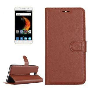 Tasche Wallet Premium Braun für ZTE Blade A610 Plus Hülle Case Cover Etui Schutz