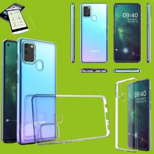 Für Samsung Galaxy A21s Silikon TPU Transparent H9 Glas Handy Tasche Hülle Etuis