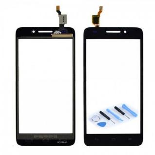 Touchscreen Display Glas für Reparatur Huawei Ascend G620S Flex Kabel Schwarz