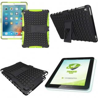 Hybrid Outdoor Schutzhülle Grün für iPad Pro 9.7 Tasche + 0.4 H9 Hartglas Case