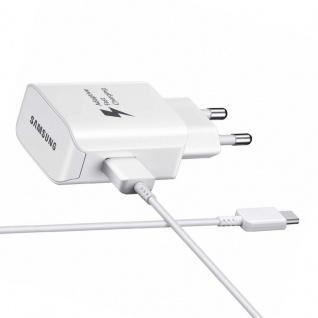 Samsung Schnellladegerät EP-TA300 Ladegerät USB Typ C Kabel Weiß 25W