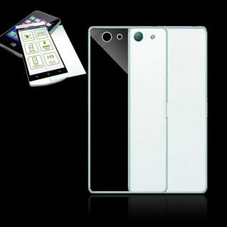 Silikoncase Transparent Tasche + 0, 3 H9 Panzerglas für Sony Xperia Z5 Compact