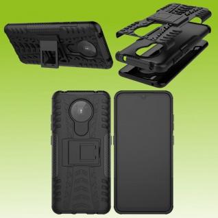 Für Nokia 5.3 Outdoor Schwarz Handy Tasche Etuis Hülle Cover Case Schutz Zubehör