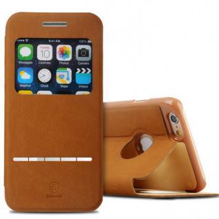 Original Baseus Window View Tasche Braun für Apple iPhone 6 4.7 Etui Hülle Case