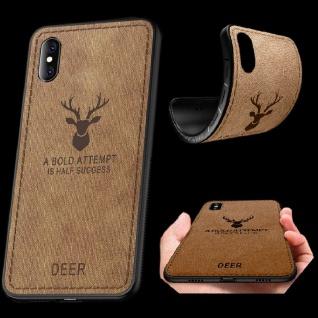Premium Tasche Silikon Kunstleder Braun für Apple iPhone XS MAX 6.5 Hülle Case