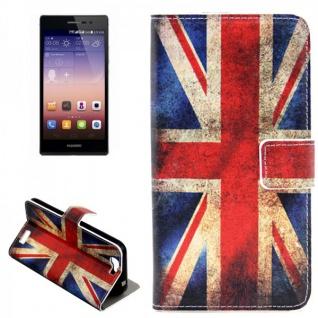 Schutzhülle Muster 9 für Huawei Ascend G7 Bookcover Tasche Case Hülle Wallet Neu