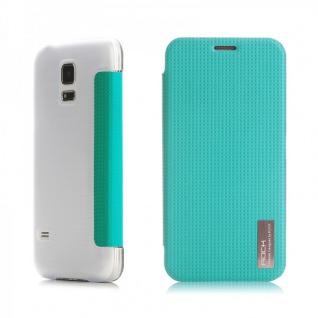 Original ROCK Smartcover Blau für Samsung Galaxy S5 Mini G800 F A H Case Hülle