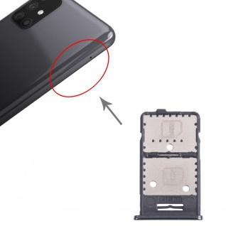 Dual Sim Karten + Micro SD Halter Card Tray für Samsung Galaxy M31s Schwarz