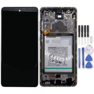 Samsung Display LCD Kompletteinheit für Galaxy A72 A725F GH82-25541D Weiß