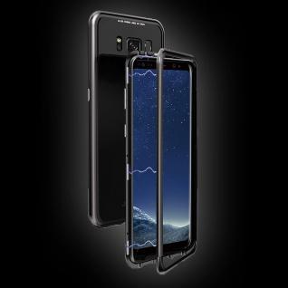 Für Samsung Galaxy S10 Plus Magnet Tasche Schwarz Transparent + 0, 3 4D H9 Glas - Vorschau 3