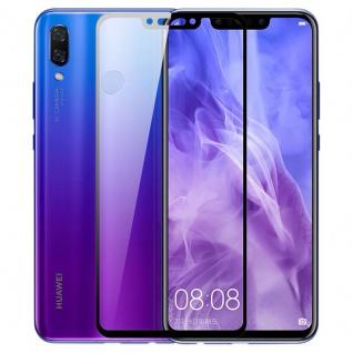 Für Huawei P Smart Plus 3D Display 0, 3 mm H9 Hart Glas Schwarz Schutz Folie Neu