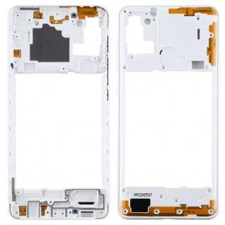 Mittelrahmen für Samsung Galaxy A21s Weiß Middle Frame Rahmen Gehäuse Zubehör