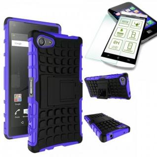 Hybrid Case Lila für Sony Xperia Z5 Compact 4.6 Zoll + 0.3 H9 Hartglas Tasche
