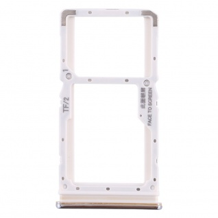 Sim Card Tray für Xiaomi Redmi Note 8 Pro Silber Karten Halter Holder Ersatzteil