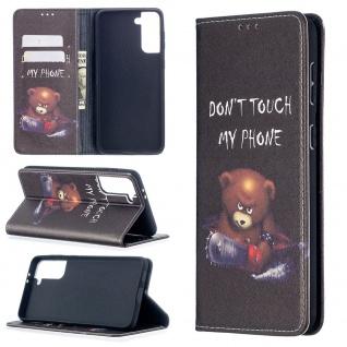 Für Samsung Galaxy S21 Plus 5G Kunst-Leder Handy Tasche Motiv 5 Hülle Etui Cover