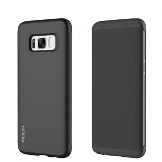 Original ROCK Shadow Smartcover Tasche Schwarz für Samsung Galaxy S8 Plus G955F